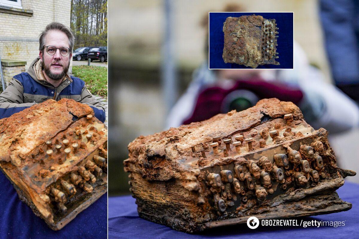 Машины Enigma увидел на дне Балтийского моря дайвер-исследователь Кристиан Хюттнер