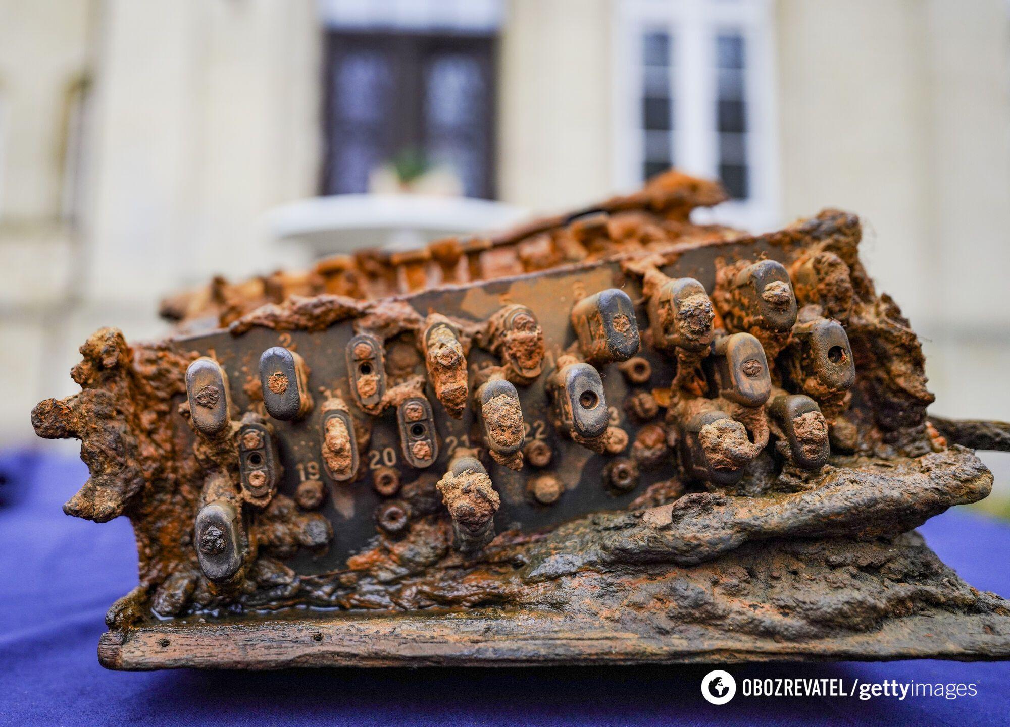 Шифровальная машина Enigma, найденная в Балтийском море