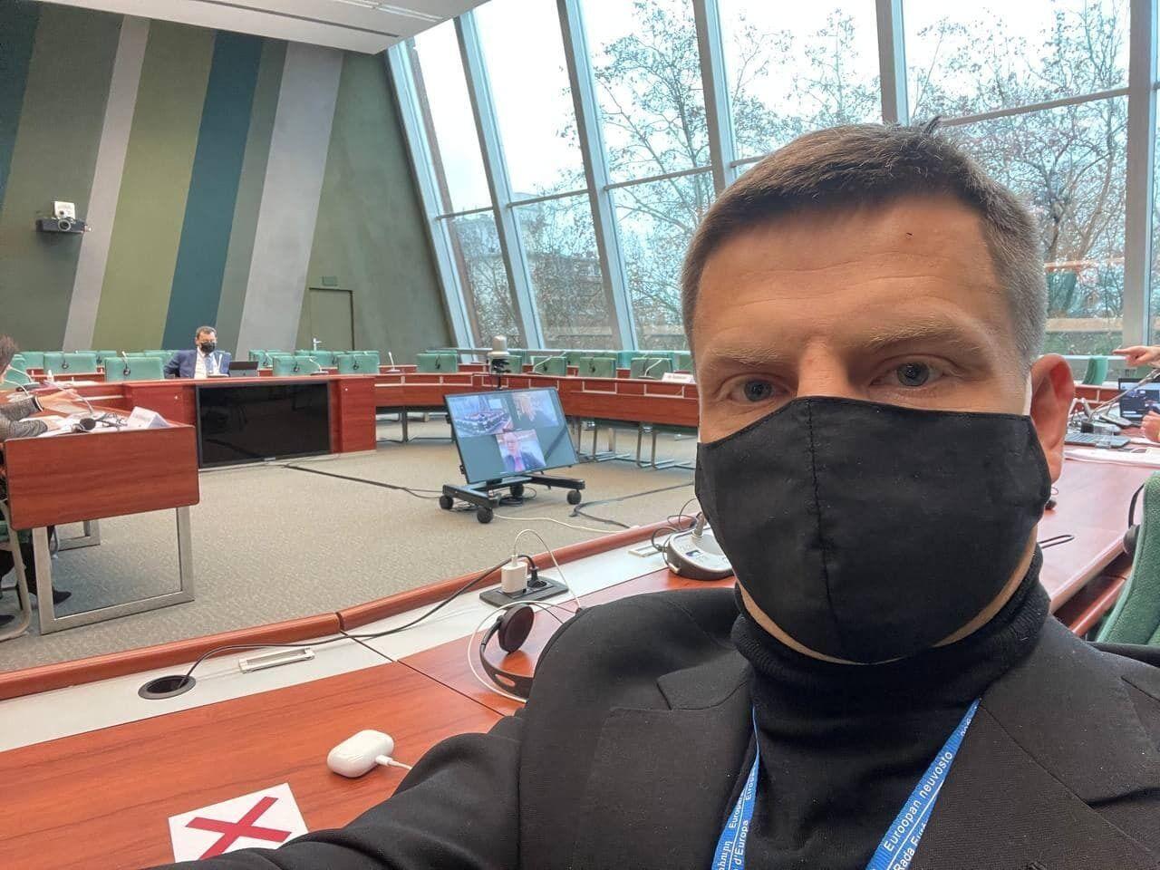 Гончаренко на сессии ПАСЕ