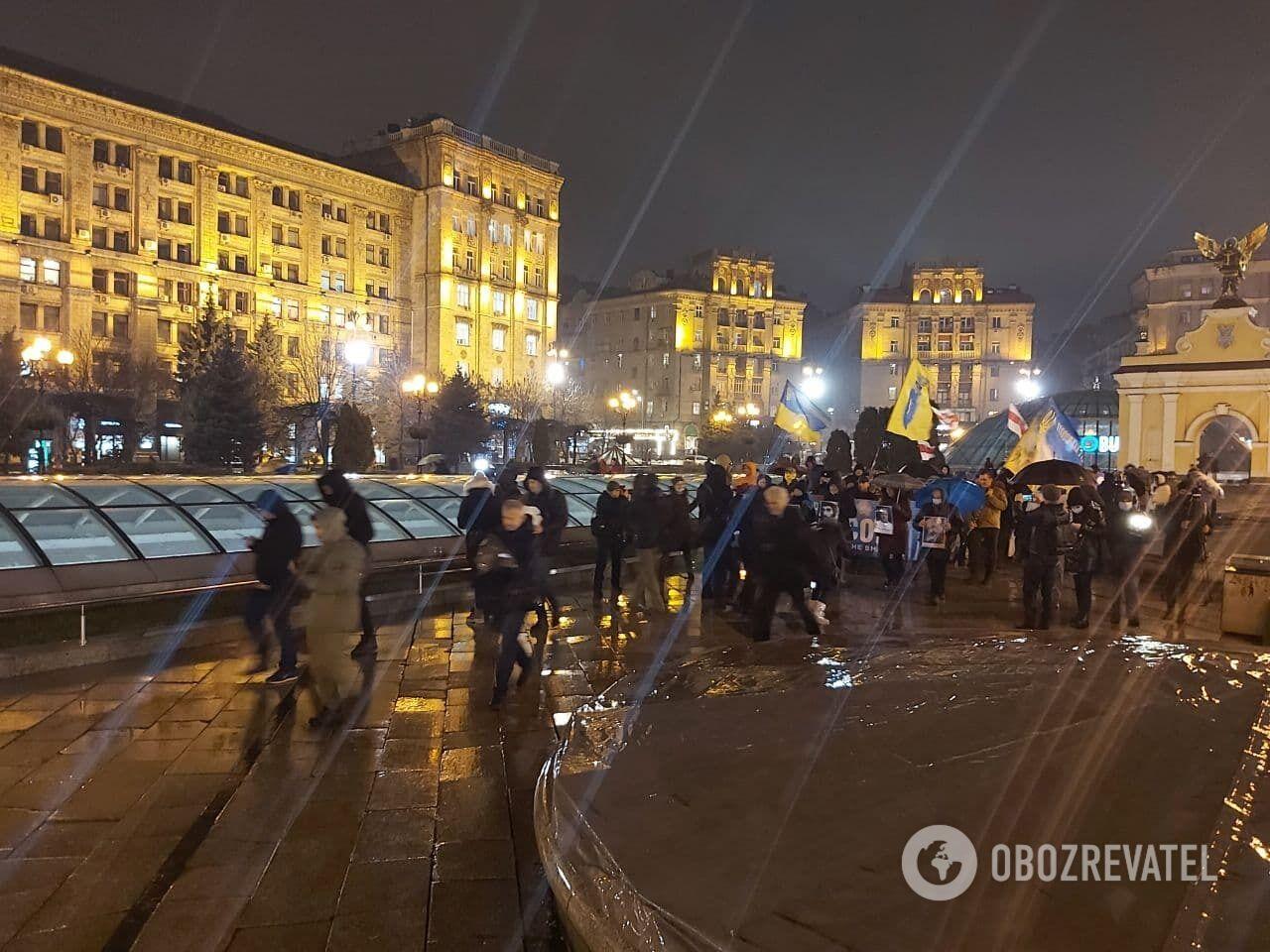 Участников сопровождала полиция
