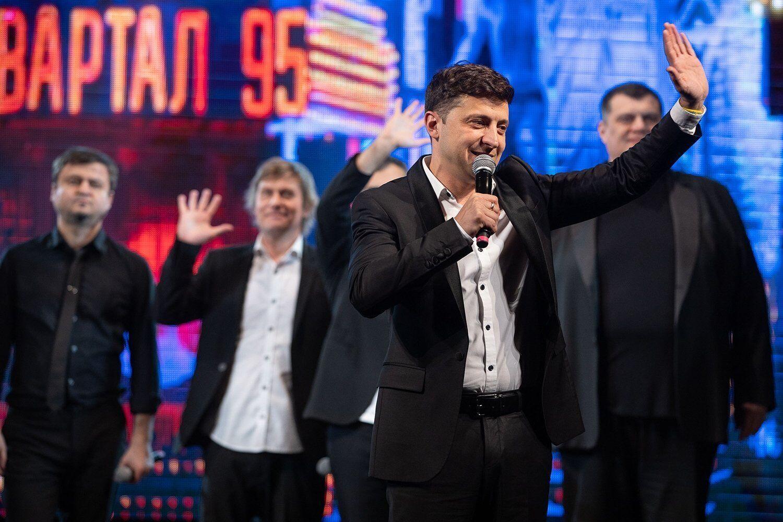 """Зеленский в """"Квартале 95""""."""