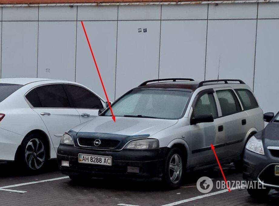 З автомобіля зникла символіка російського спецпідрозділу