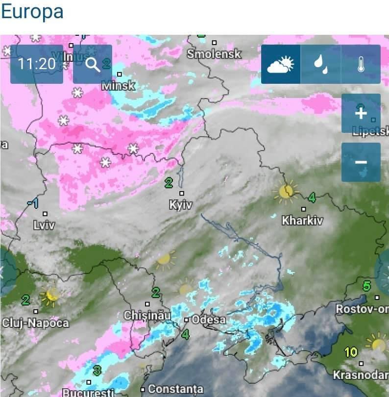 Карта опадів в Україні