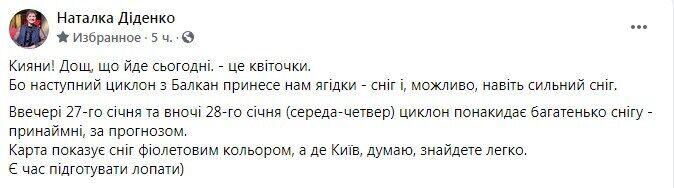 Facebook Натальи Диденко.