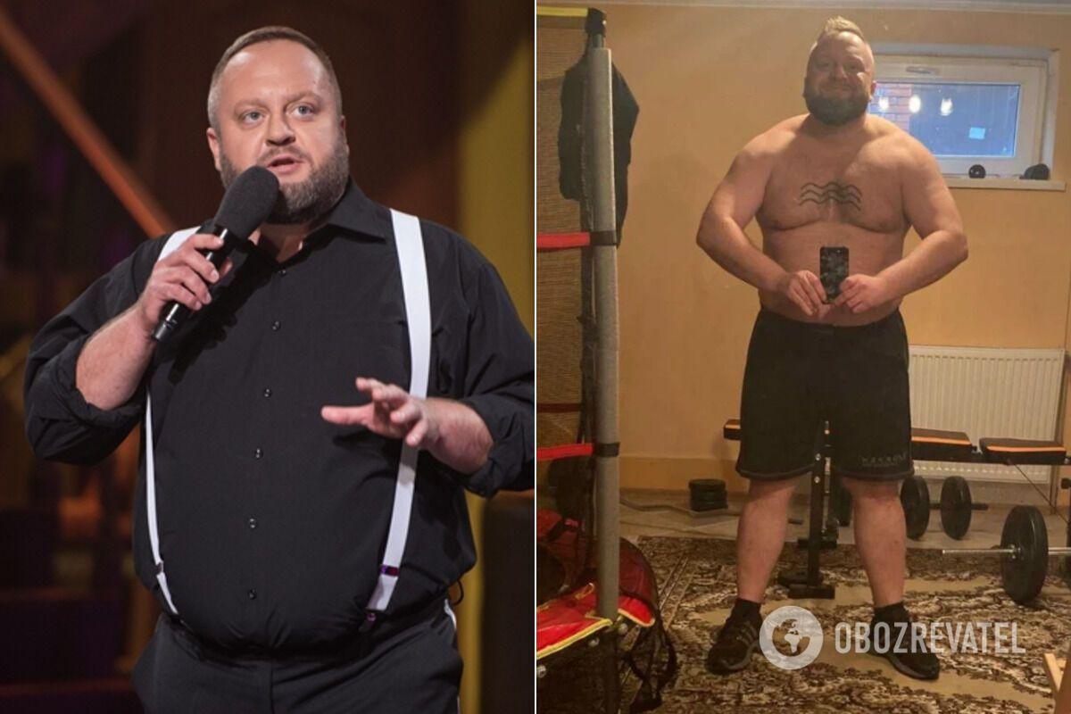 Максим Кравец до и после похудения