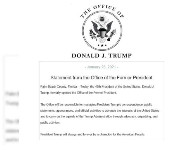 Оголошення про відкриття офісу Трампа у Флориді