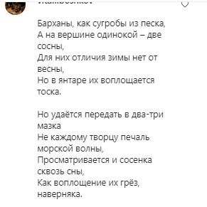 Поклонник девушки прокомментировал фото стихом