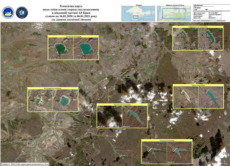 Уровень воды в крымских водохранилищах.