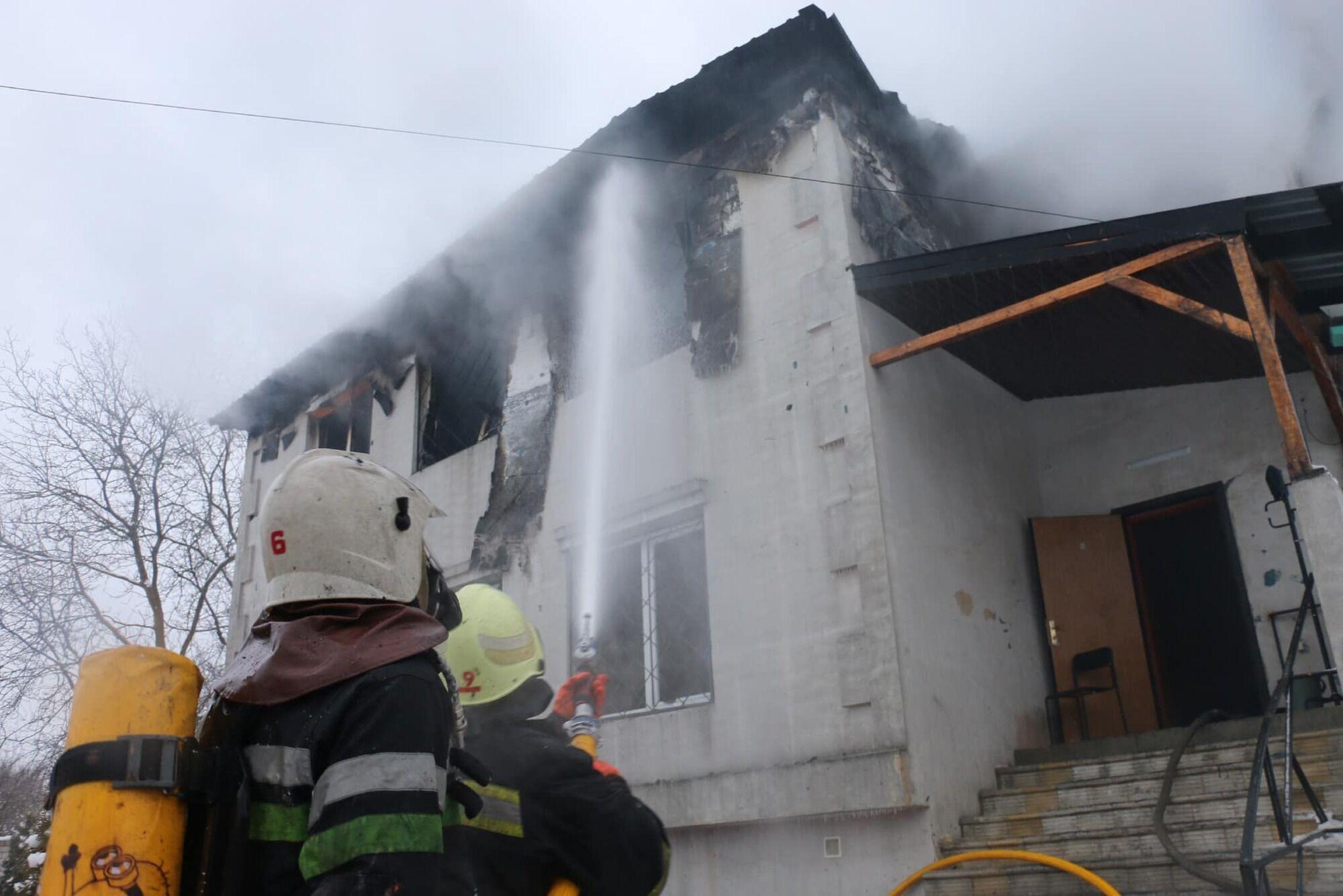 Дом престарелых, который горел в Харькове