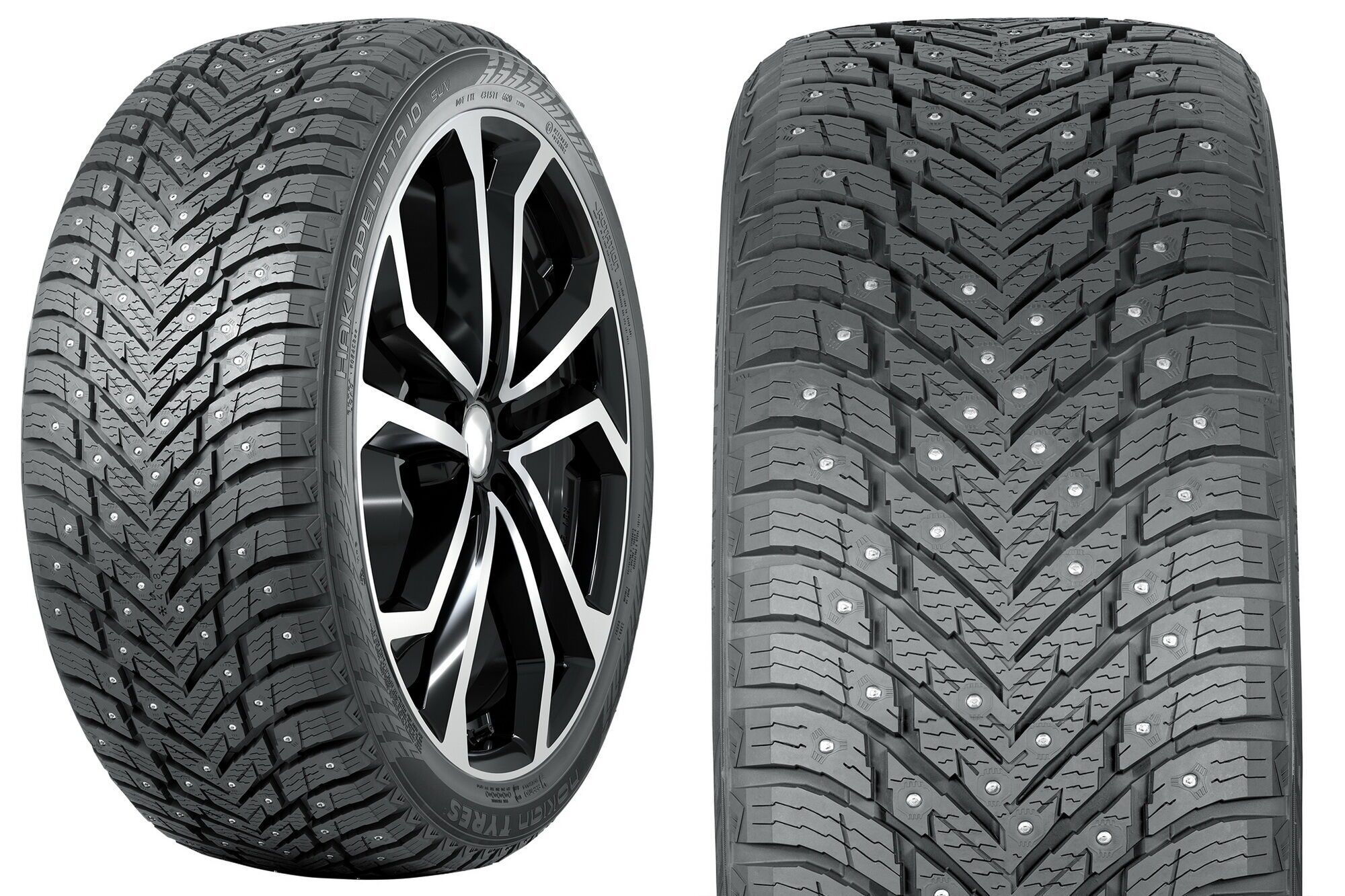 Hakkapeliitta 10 SUV для кроссоверов и SUV имеет более агрессивный дизайн и усиленную конструкцию