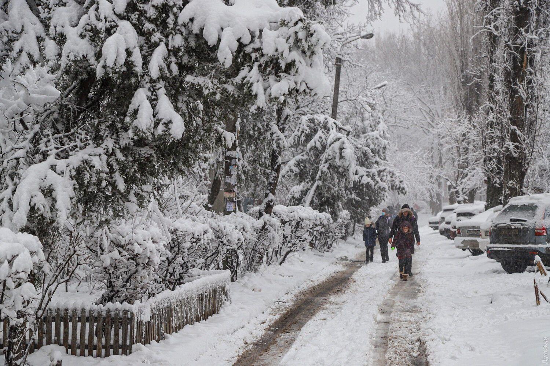 Снігопад в Одесі.