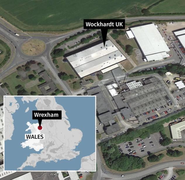 Фармацевтический завод в Уэльсе