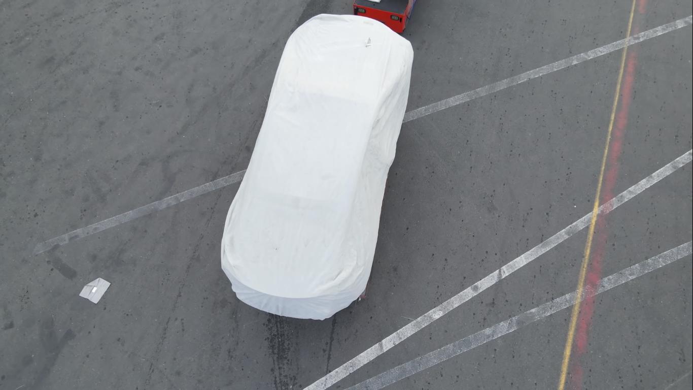 Силуэт возможного нового авто Tesla