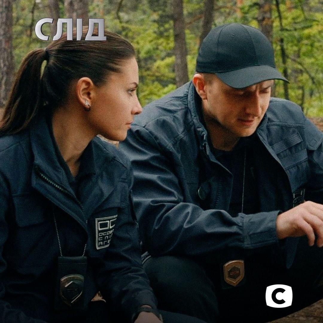 Антонина Хижняк и Александр Боднар на съемках сериала