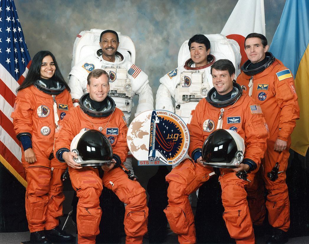 Каденюк із командою місії STS-87