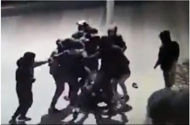 Камеры видео наблюдения сняли жестокое избиение украинца