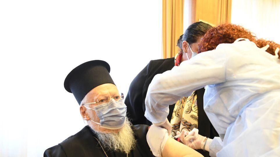 Патриарх Варфоломей сделал прививку от COVID-19
