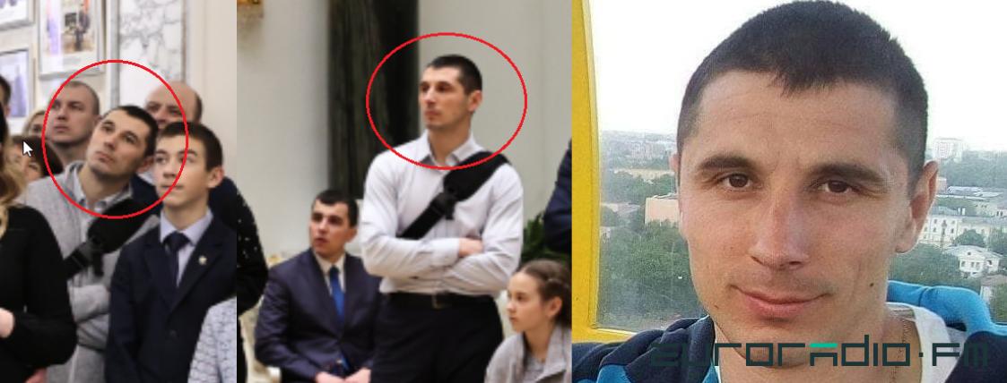 Сергей Киминчижи. На двух фото слева – ОМОНовец в резиденции Лукашенко