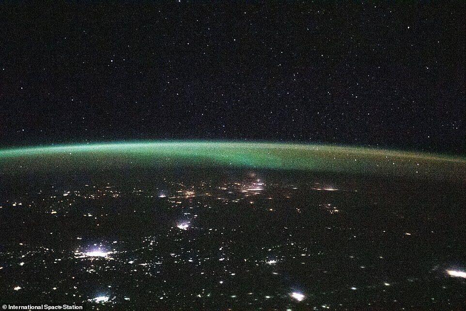 13 января экипаж МКС поделился снимком во время полета над Казахстаном