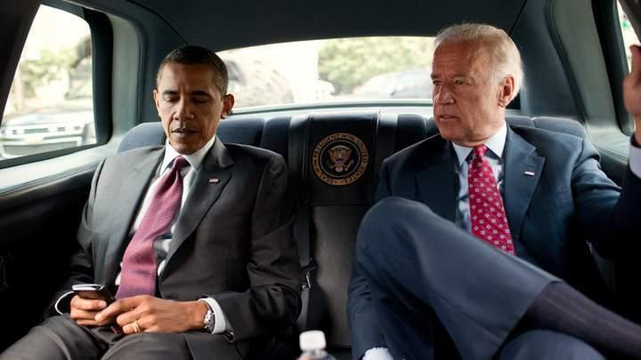Джо Байден и Барак Обама в Cadillac One