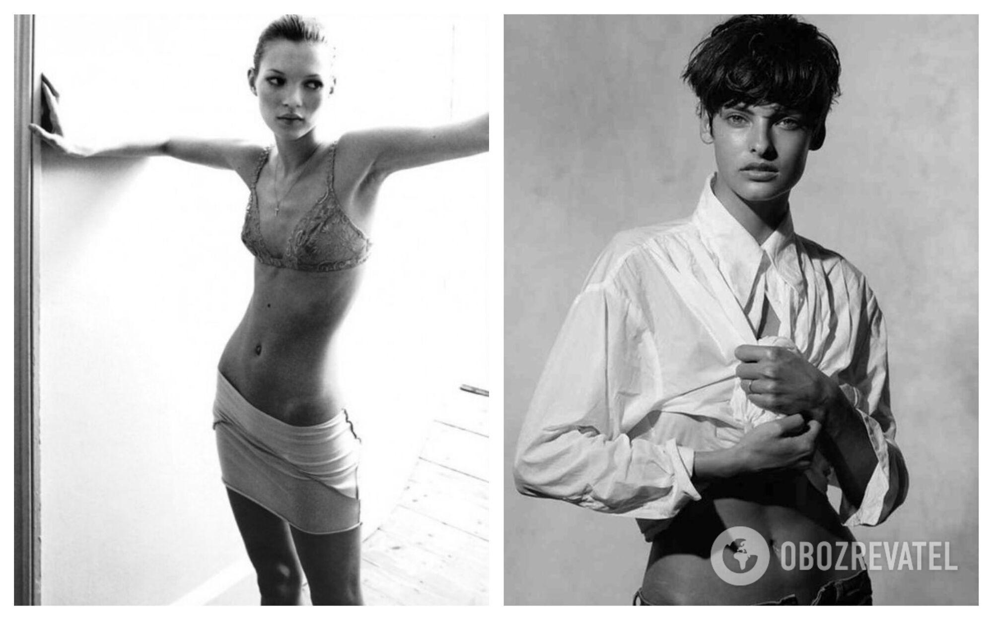 Наприкінці ХХ століття в моду знову увійшла худорлявість і талія 60 см