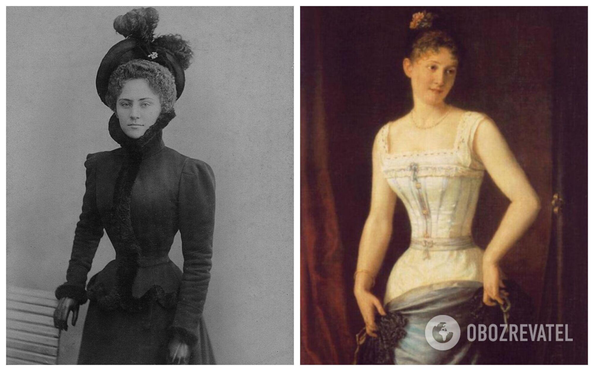 У 1900-і вважалися ідеалом краси жінки з талією 40 см