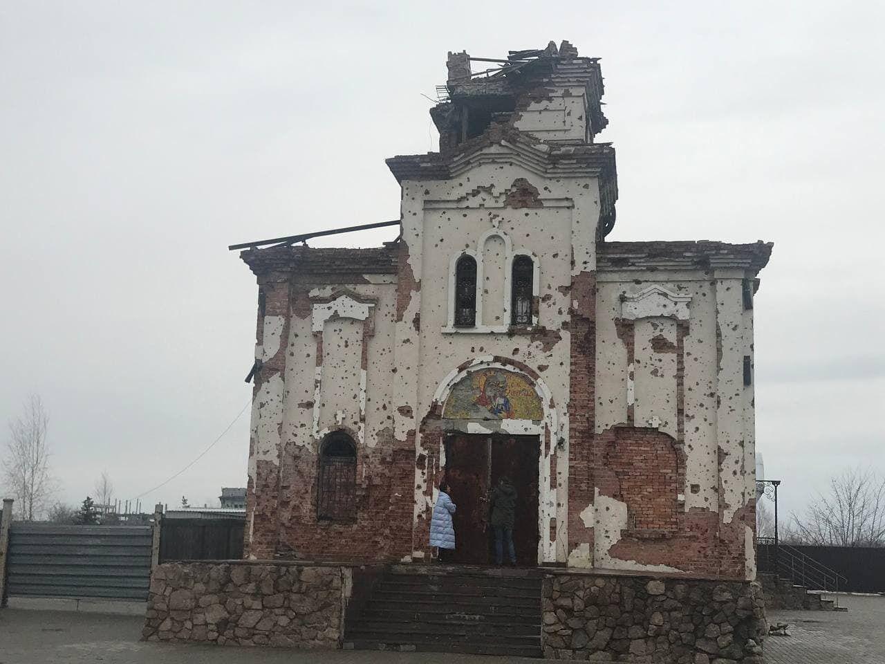 Обстрелянный террористами храм