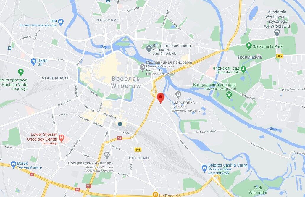 Пожежа сталася в центрі Вроцлава