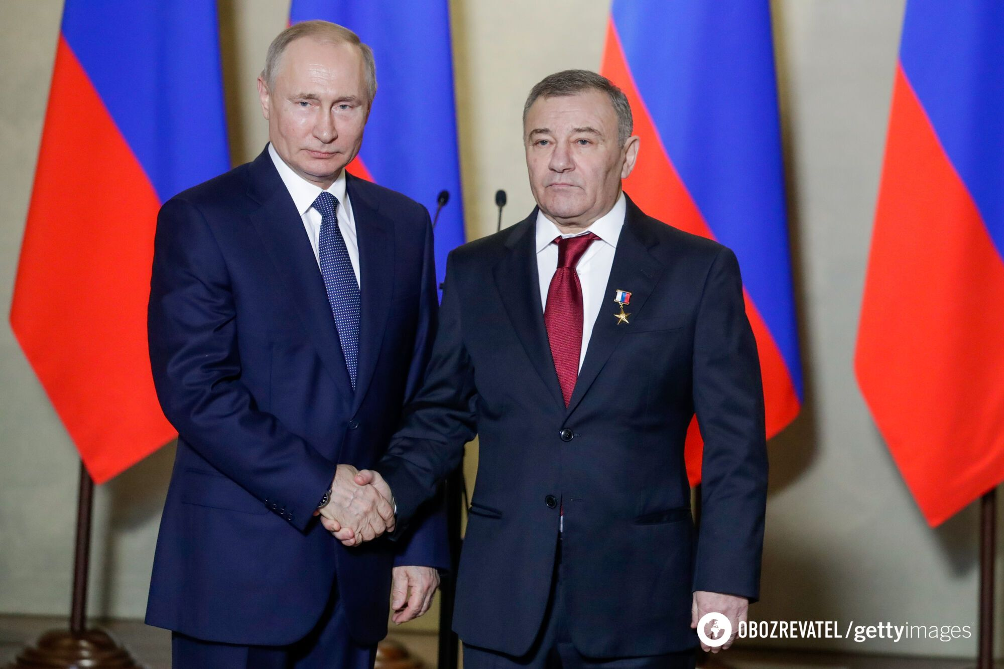 Володимир Путін та Аркадій Ротенберг
