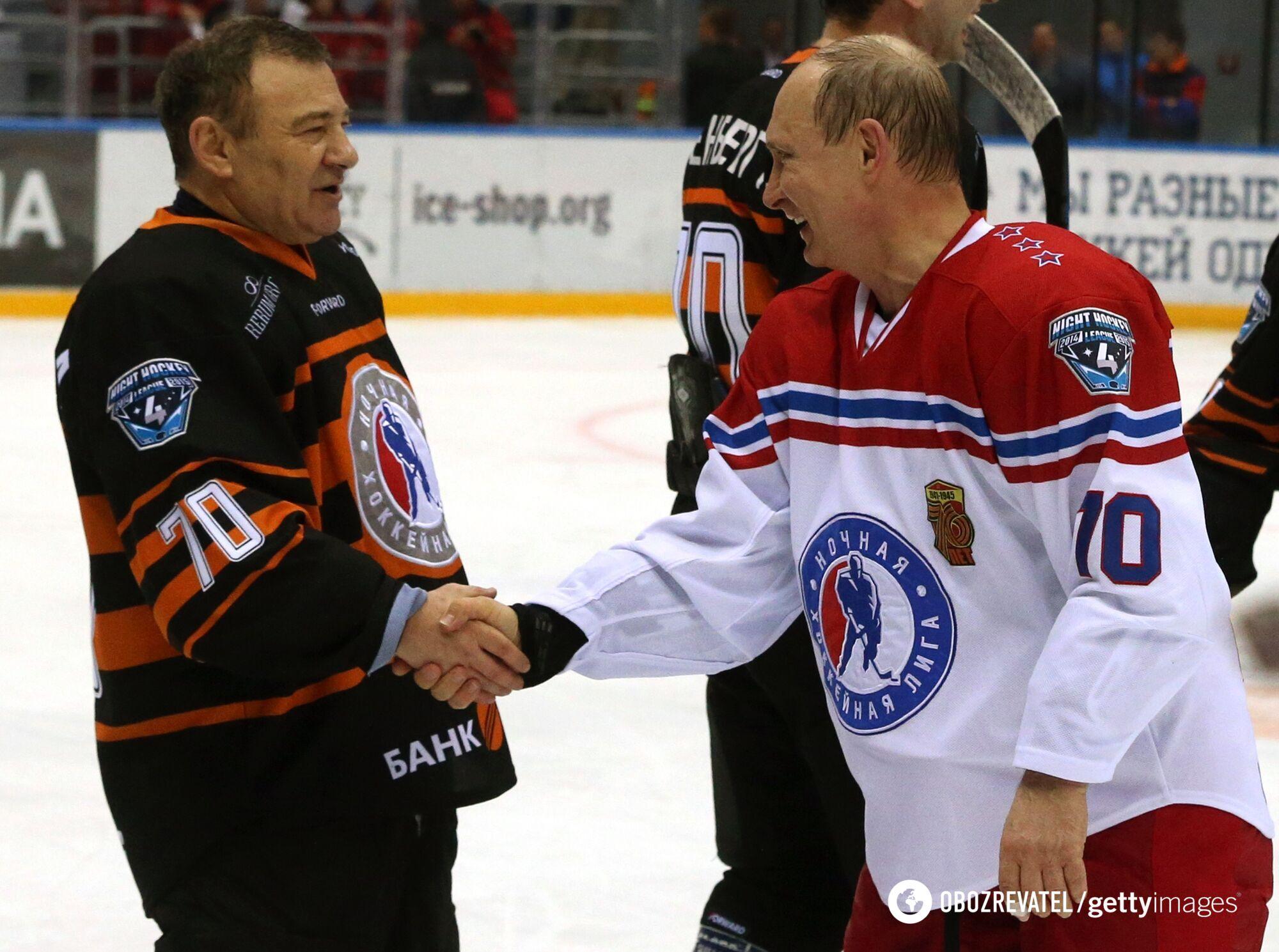 Ротенберг і Путін грають у хокей