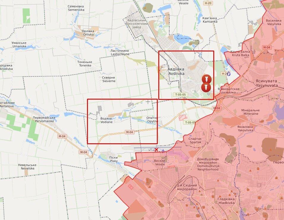 Обстріл в районі Авдіївки і Водяного.