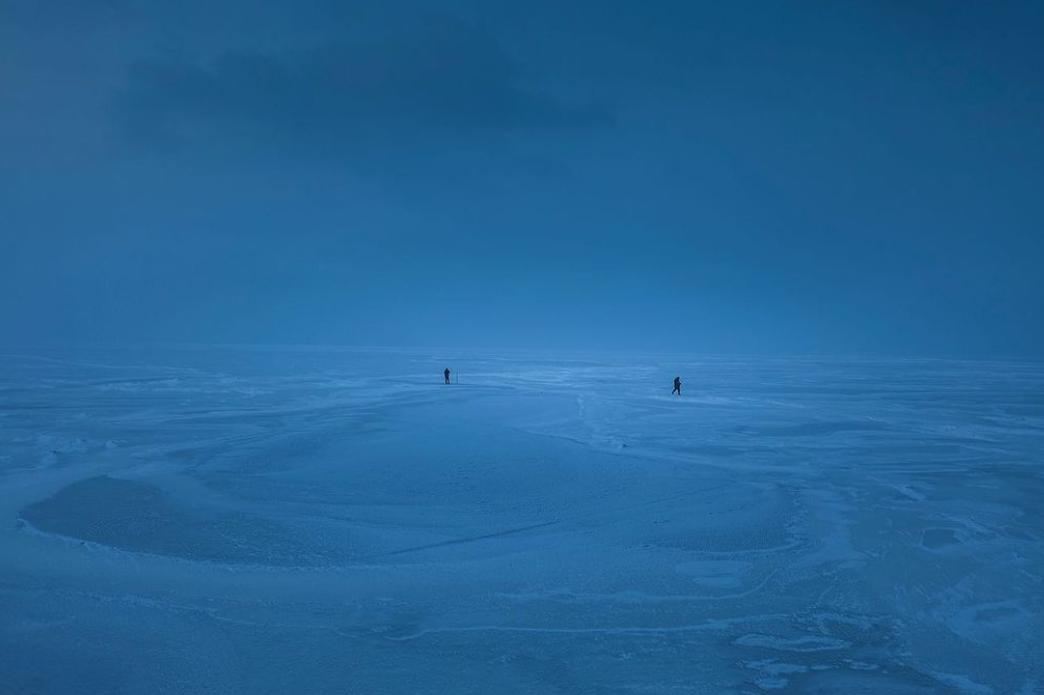Замерзшее Киевское море