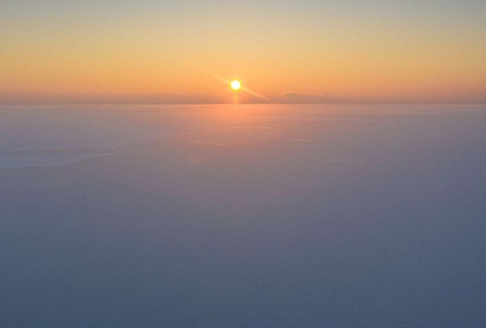 Закат над Киевским морем