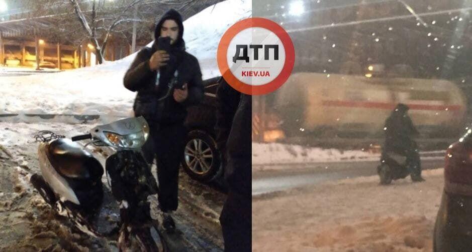 У Києві затримали п'яного чоловіка, що роз'їжджав на скутері