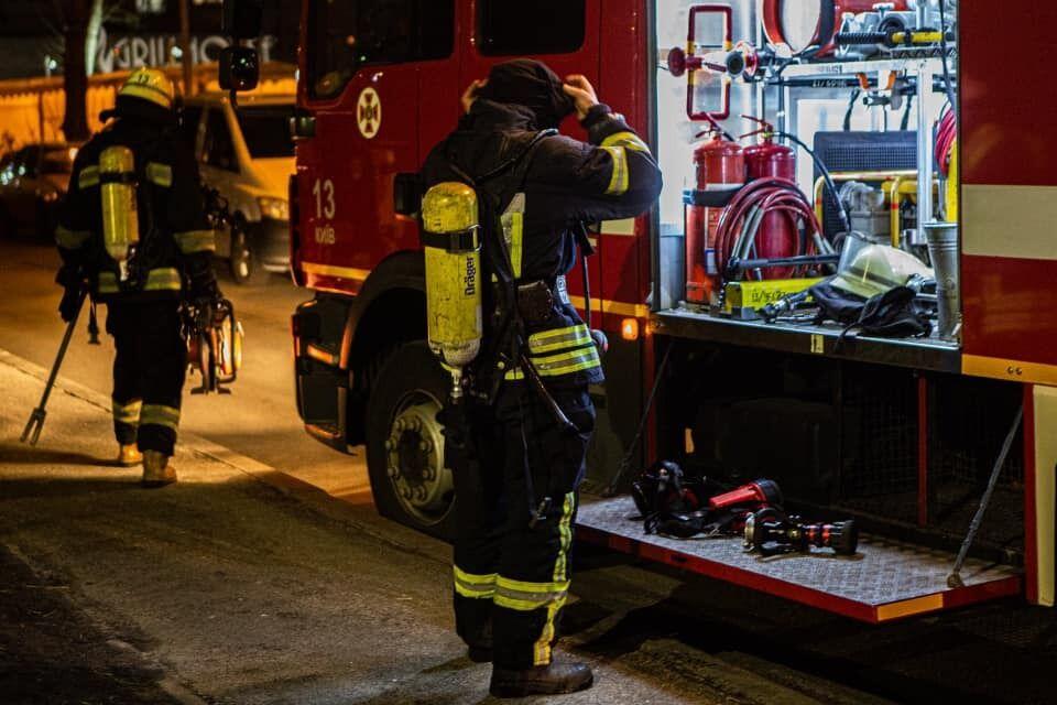 Ликвидация пожара в Киеве