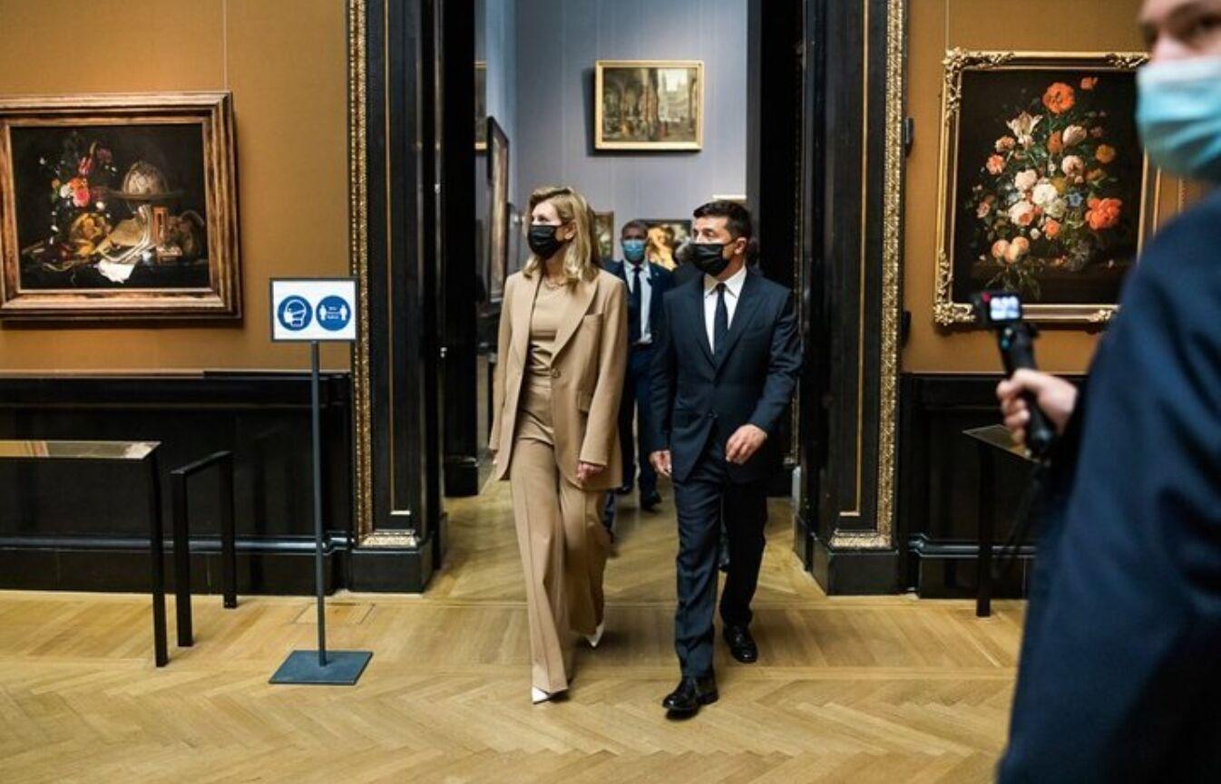 Зеленская в венском Музее истории искусств