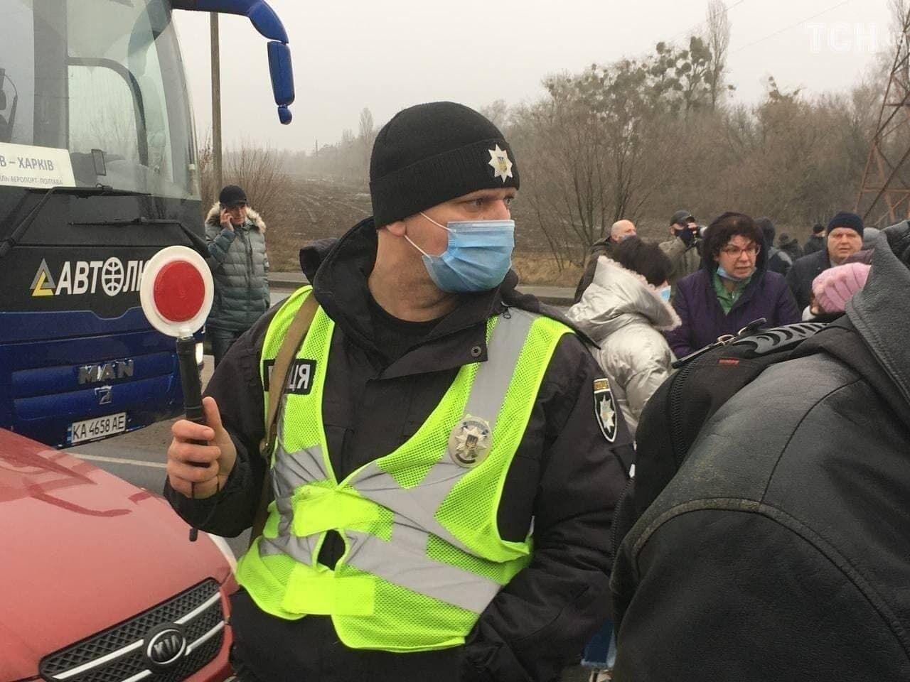 На месте акции присутствует полиция