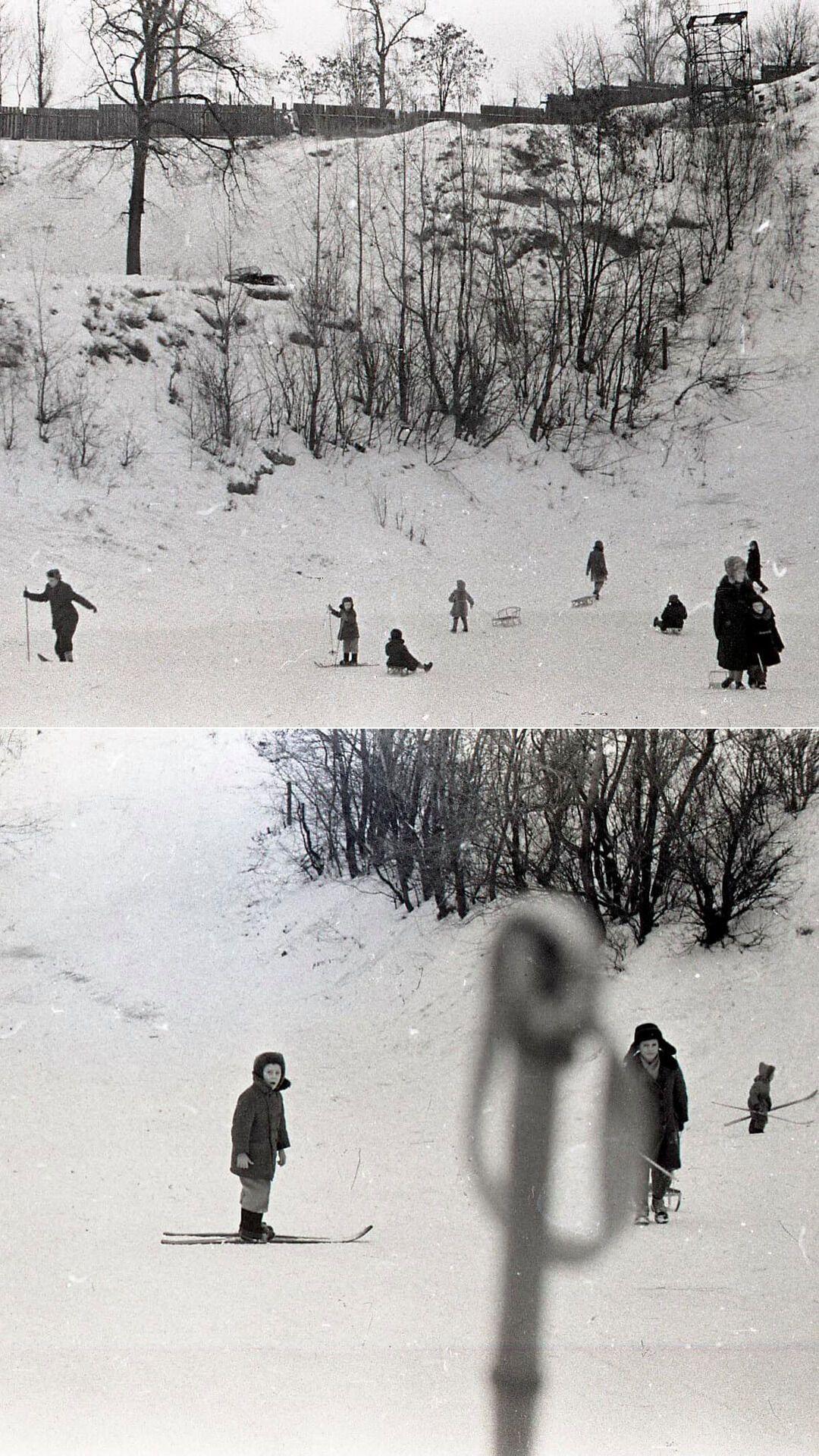Склоны Черепановой горы в Киеве, 1964 год