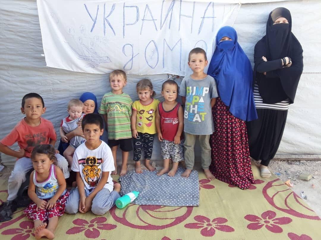 В лагере в Сирии осталось много украинских женщин и детей, которые ждут возвращения домой