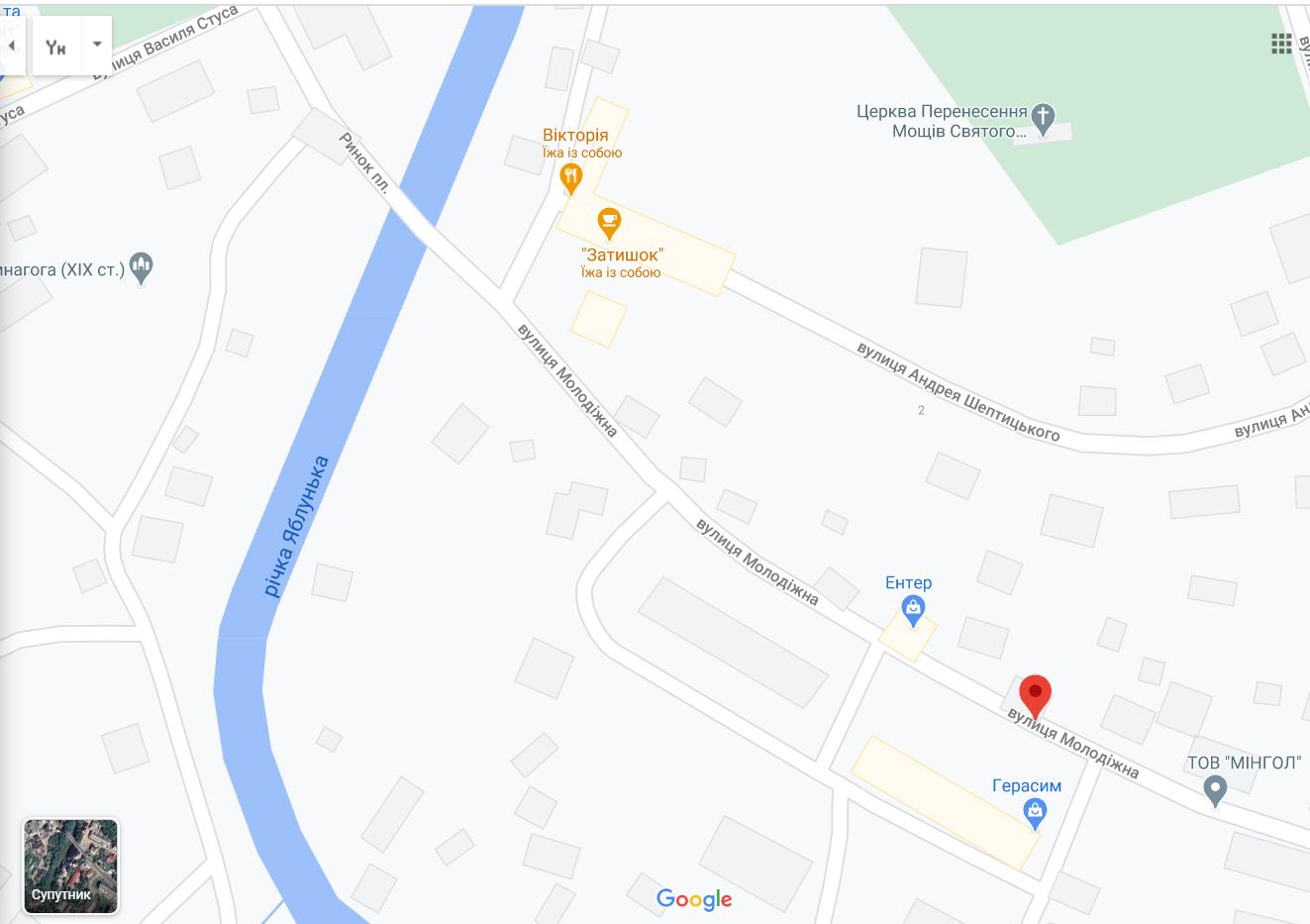 Ул. Молодежная, где произошло ДТП