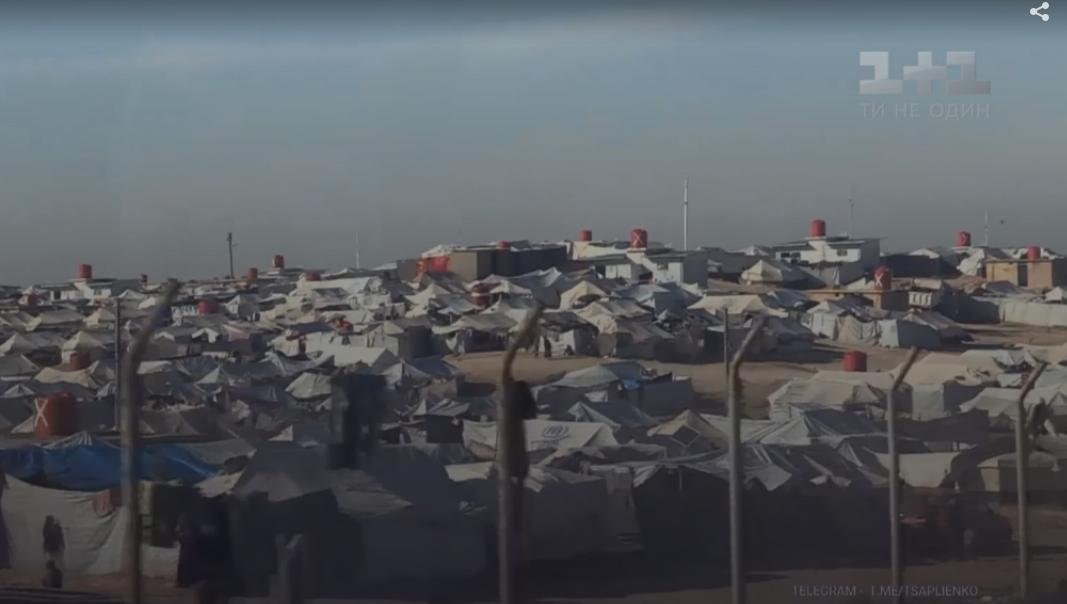 """Лагерь Аль-Хол, где оказались в том числе и украинки после разгрома """"Исламского государства"""""""