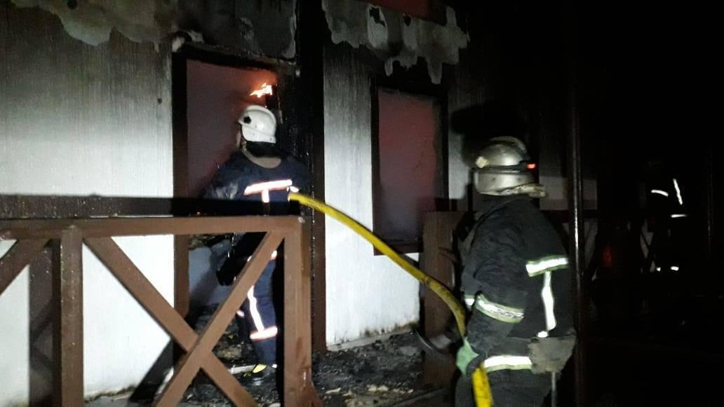 Площадь пожара составила 250 кв. м