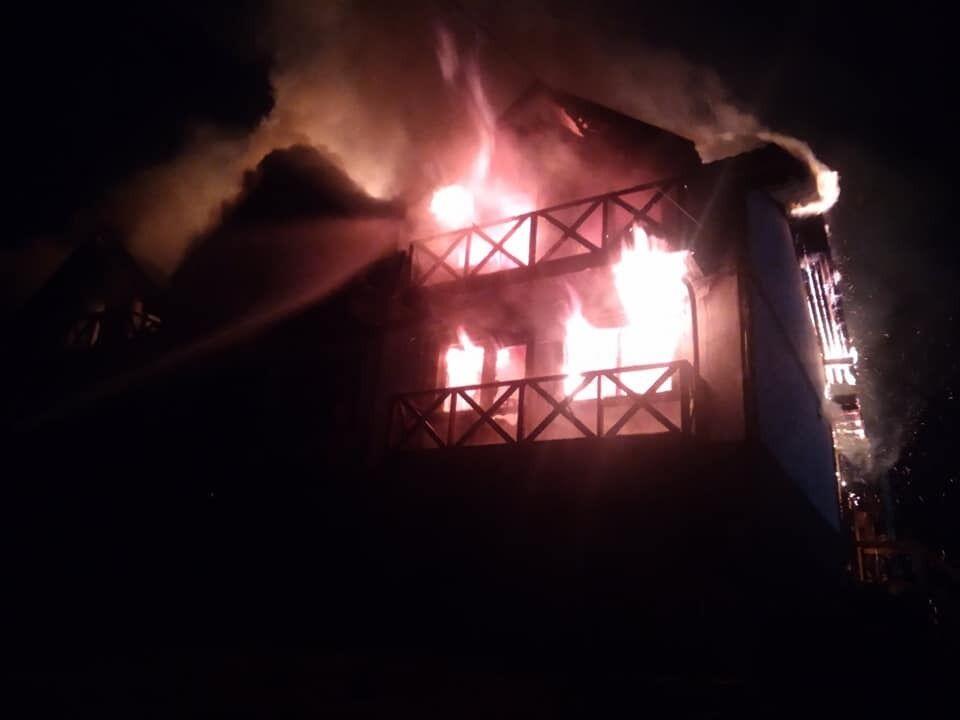 Пожар в Полянице