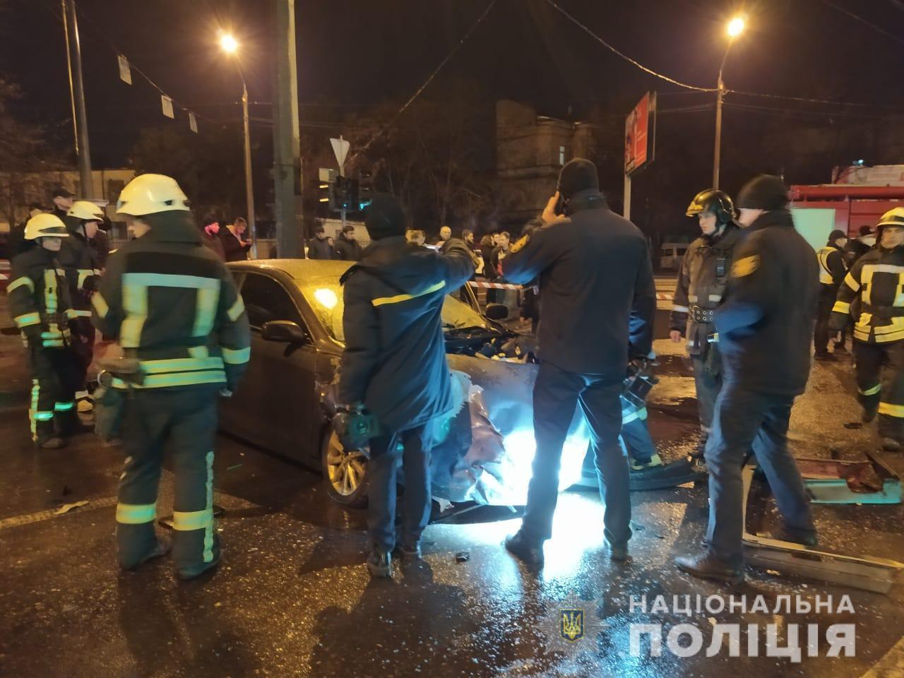 Поліція на місці аварії