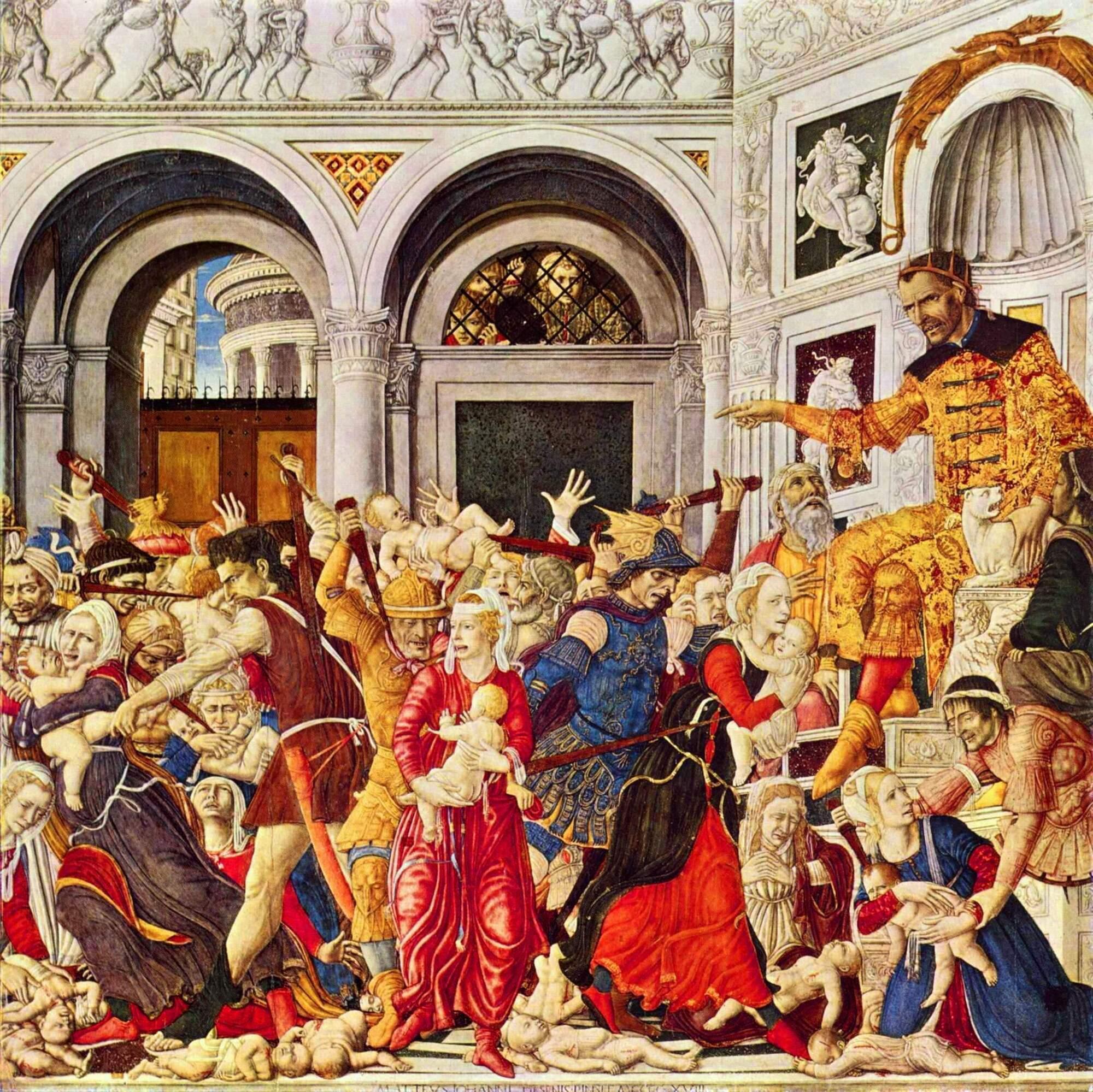 За наказом Ірода у Віфлеємі було вбито всіх немовлят віком до двох років