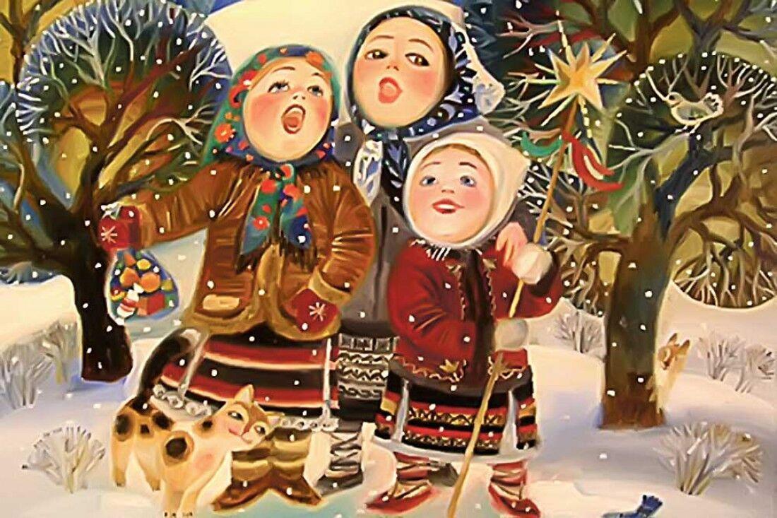 Щедривки на украинском языке для детей