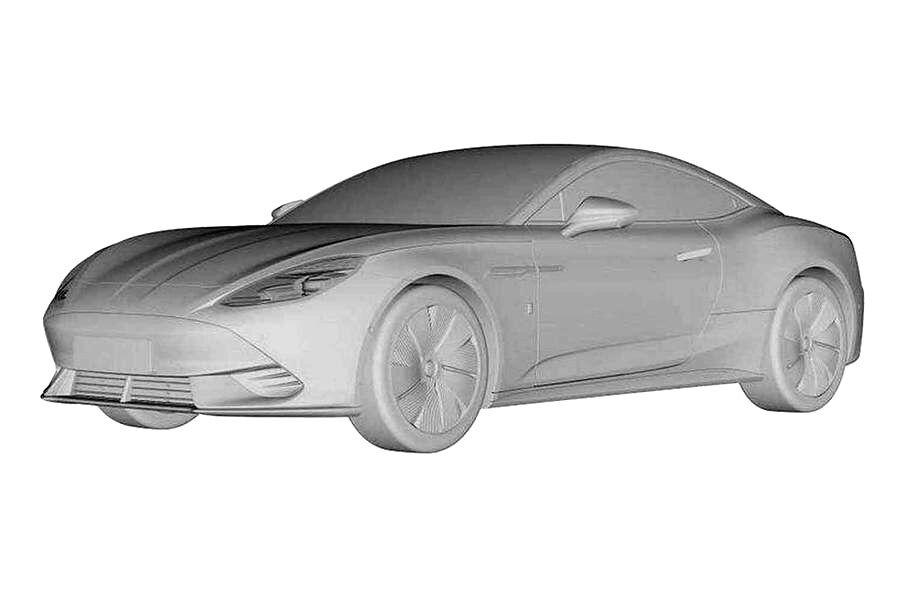 Патентное изображение нового электрического купе MG