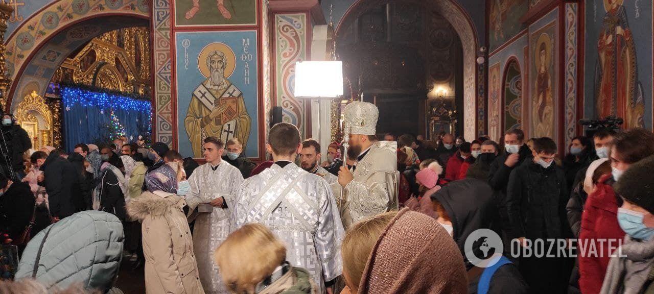 Рождественское богослужение в Михайловском соборе ПЦУ.