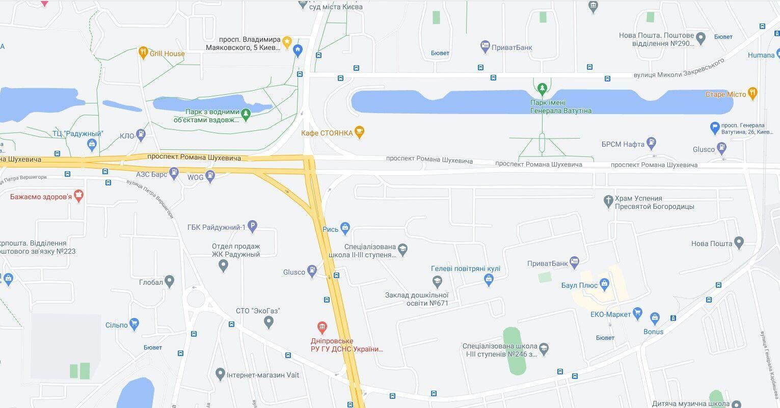 ЧП произошло в Днепровском районе.
