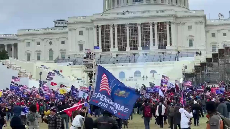 Протестные акции возле здания Конгресса